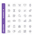 line icons set business vector image vector image