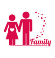 lovely family couple pregnant poster vector image vector image