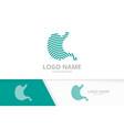 modern stomach logo design health stomach vector image vector image
