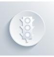 modern traffic light circle icon vector image