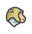 monkey head chimp icon cartoon vector image vector image