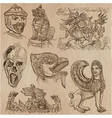 monsters - an hand drawn collection vector image