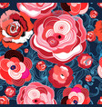 multi-colored summer pattern different roses vector image vector image