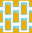 oranges juice in glass drink seamless pattern on vector image