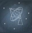 parabolic antenna icon on chalkboard vector image