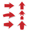 red arrow marks a shadow on a white background vector image