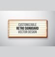 Retro signboard or lightbox