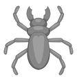 Rhinoceros beetle icon cartoon style vector image vector image