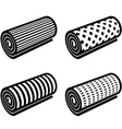 roll of anything black symbol vector image vector image