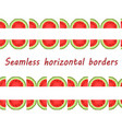 Seamless border of the halves of watermelons