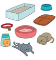 set of cat accessories vector image vector image