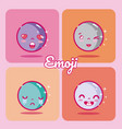 set of cute emojis vector image