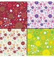 Set of four decorative seamless pattern vector image vector image