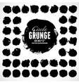 Set of grunge circles vector image vector image