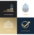 set of logo design templates and emblems vector image