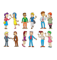 set of people talking cartoon vector image vector image