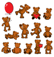 Set of vintage soft toys - teddy bears vector image vector image