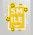 smiley faces design elements vector image vector image