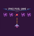 space pixel game war ship and object vector image vector image