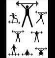 sport of weightlifting vector image vector image