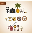 Steampunk technology icons set vector image vector image