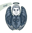 Sticker Angel vector image vector image
