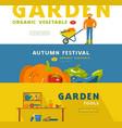 stock gardening hobbanner set vector image vector image