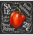 sweet pepper logo design template fresh vector image vector image