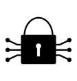 tech circuit lock icon simple minimal pictogram vector image vector image