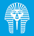 tutankhamen mask icon white vector image vector image