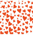 valentines day hearts seamless pattern hand drawn vector image vector image