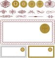 vector blank certificate frame set vector image vector image