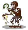 Voodoo shaman vector image vector image