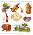 Wine colored icons set vector image vector image
