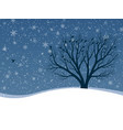 winter card of snowfall with trees vector image vector image