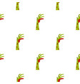 zombie green bloody hand pattern seamless vector image vector image