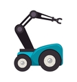 Robot car with hydraulic hand vector image