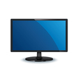 computer monitor wide screen isolated vector image