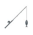 Fishing rod icon vector image