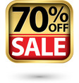 70 off sale golden label with red ribbon vector image vector image