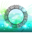 abstract floral frame background vector image
