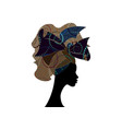 african wedding hairstyle head wrap colorful scarf vector image vector image