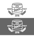 alcohol barrel icon vector image