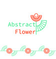 an abstract geometrical flower logo vector image vector image