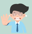 angry businessman showing hand palm sign stop vector image vector image
