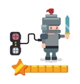 avatar knight controller gamepad favorite vector image