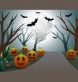 background of halloween celebration on night vector image