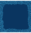 Background with elements in blue tones vector image vector image