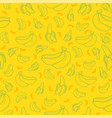 banana fruit seamless summer pattern background vector image vector image