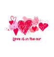 banner with hearts isolated on white vector image vector image